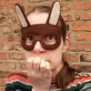 SALE: Brown Rabbit, felt mask