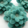 Large Turquoise Corsage, beaded felt flower brooch