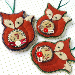 Christmas Fox Decoration - one fox decoration