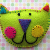 Kooky Kat Klown (limited edition) Cat Brooch