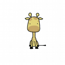 Greeting Card, Animal Card, Cute Giraffe Aarf!