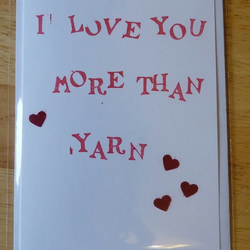 Hand stamped card - I love you more than...