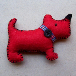 Make Your Own Little Red Dog In A Little Craft Box