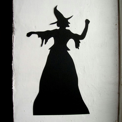 Halloween Witch Silhouette Decoration