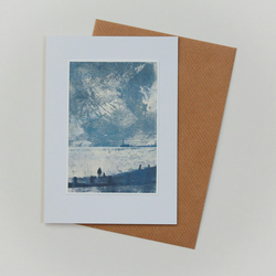 Coastal Print handmade greeting card