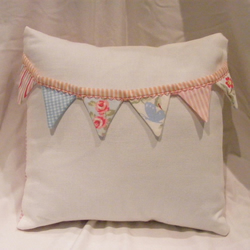 Girly bunting cushion x