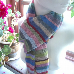 Hand knitted Stripey Scarf