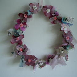 Shades of Pink Floral Wreath