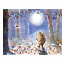 Hedgehog - set of 5 postcards with envelopes