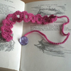 Pink Adjustable Button Bookmark