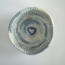 Blue Crochet Bowl