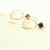 Jet Black and Silver Drop Earrings