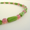 Green and Pink Bead Necklace