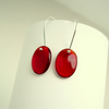 Simple Red Glass Earrings
