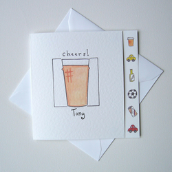 Personalised Beer Glass Greetings Card