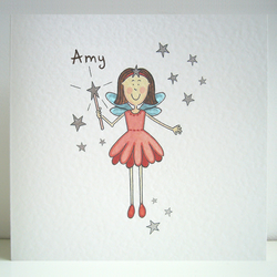Personalised Fairy Card.