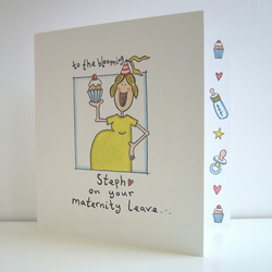 Maternity Leave Card ( Personalised )