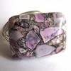 Purple Mosaic Magnesite Wire Wrapped Ring