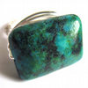 Chrysocolla Gemstone Green Blue Wire Wrapped Ring Any Size