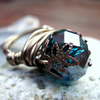 Antiqued Copper And Teal Wire Wrapped Ring