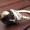 Bronze Rondelle Wire Wrapped Ring