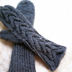 Handknitted Twilight Mittens