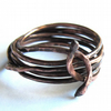 Copper Snake Ring Wire Wrapped Unisex Jewellery
