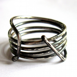 Sterling Silver Coiled Ring