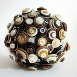 Coffee and Cream Button Bouquet