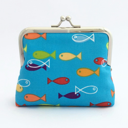 Colourful fish purse