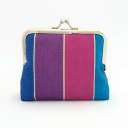 Rainbow striped purse