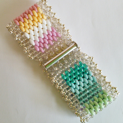 One-off designer duo bead bracelet