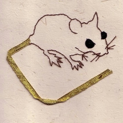 Wood Mouse Recycled Card