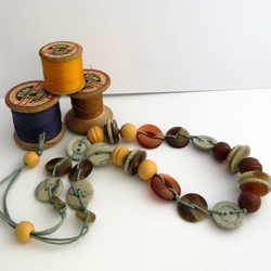 Button and Bead Necklace