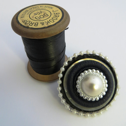 Button Brooch and Hairclip