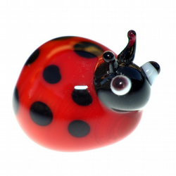 Glass Lampworked Ladybird