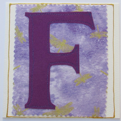 Personalised letter cards F,G,H,I,K