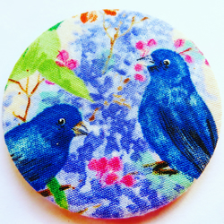 Two blue birds Pocket Mirror