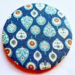 Leaf Fabric Pocket Mirror