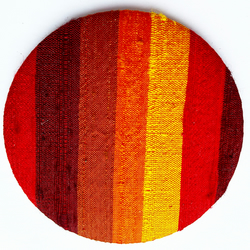 Striped Silk Pocket Mirror