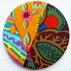 Patchwork Fabric Pocket Mirror