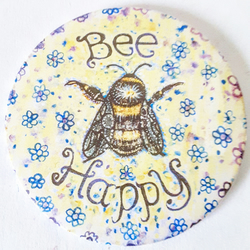 Bee Happy Pocket Mirror