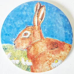 Large Hare Pocket Mirror