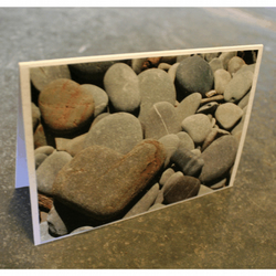 Pebble Heart - Greetings Card