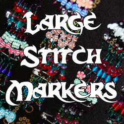 Large Knitting Stitch Markers