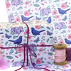 Gift Wrap 2 pack  - Blackbirds and Hydrangea