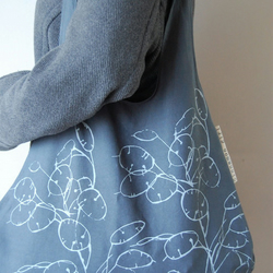 Recycled Cotton tote bags Honesty print dark grey