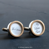 Custom Text Cufflinks, Say it in Your Own Words in Beautiful Script Lettering