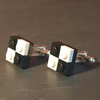 Lego Black and White Check Cuff Links Retro 1980s Style Cufflinks