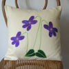 Violet Flower Cushion Cover